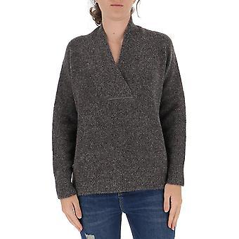 Fabiana Filippi Mad220w110c430vr2 Women's Grey Wool Sweater