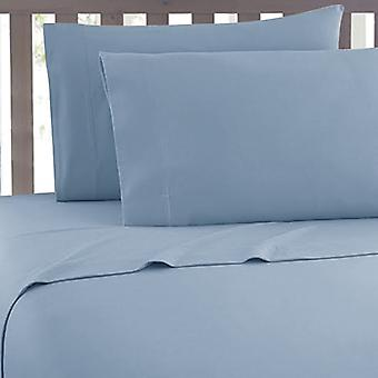3PC Hotel Quality Solid Deep Pocket Contemporary Bed Sheet Set Queen Size