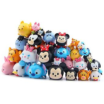 Different Cartoon Animal Model Toy 2cm Stack Up Dolls Capsule Toys Kids Favorate Gift Stack