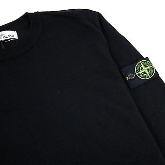 Stone Island Fine Strick Crewneck Pullover schwarz V0029