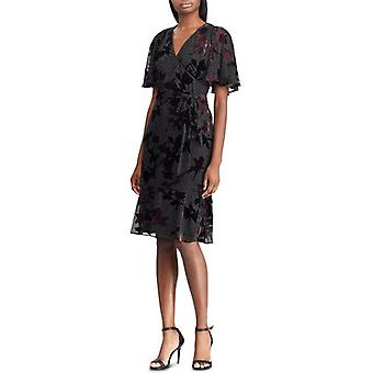 Lauren by Ralph Lauren | Floral Burnout Velvet Dress