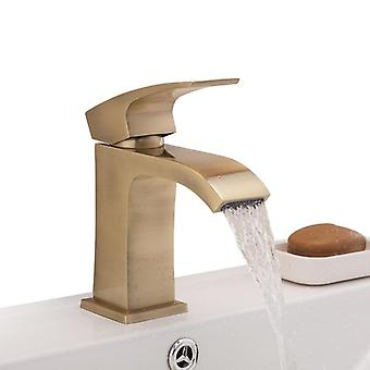 Deck Mounted, Single Hole And Handle-waterfall Faucet