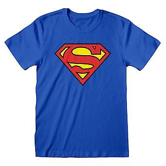 Superman DC Comics Logo Niebieski Dorośli T-Shirt Mały Niebieski (SUP00005TSCSS)