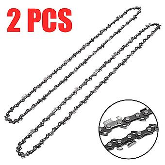 2pcs 16-inch Chainsaw Chain Blade, Wood Cutting Parts-57, Drive Links 3/8 Pitch