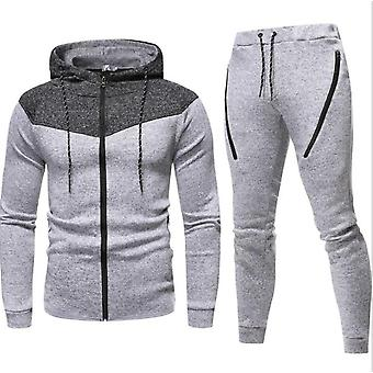 Gemdeck Men's Tuta Set Camouflage Sweatshirt Jogger Sweatpants Solid Patchwork Warm Sports Suit