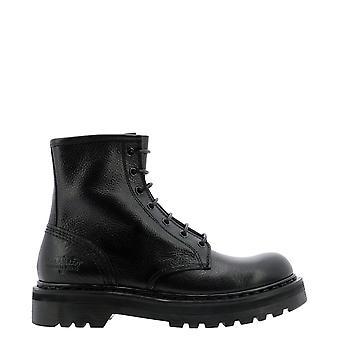 Premiata M4973nero Women's Black Leather Ankle Boots