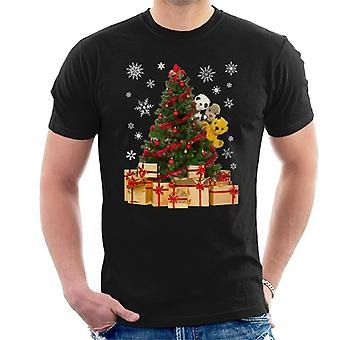 Roetveegpies gluren rond Xmas Tree Men's T-shirt