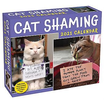 Cat Shaming 2021 DaytoDay Calendar by Pedro Andrade