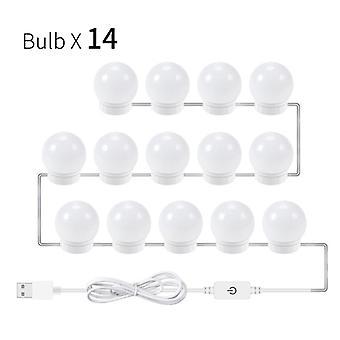 USB-led 5v Make-up-Lampe Wandleuchte Schönheit 2/6/10/14 Glühbirnen-Kit für Schminktisch
