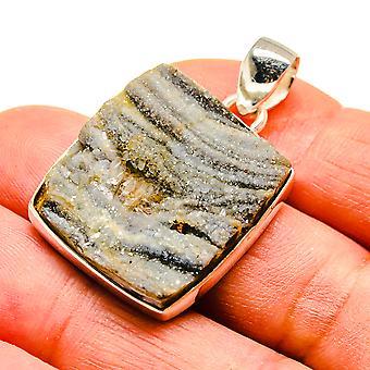 "Desert Druzy 925 Sterling Silver Pendant 1 1/2"" - Handmade Boho Vintage Jewely PD741684"
