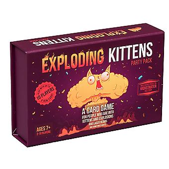 Exploding kittens card game - party pack for up to 10 players - family-friendly party games - card g