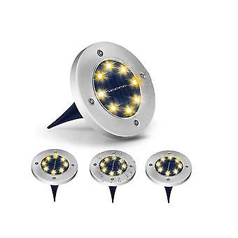 8 LED solární podzemní světlo