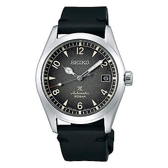 Seiko SPB159J1 Prospex Alpinist Silver & Black Leather Automatic Mens Watch