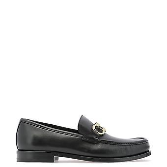 Salvatore Ferragamo 712557 Heren's Black Leather Loafers