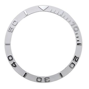 Zirconia Ceramic Ring Mouth Ceramic Scale Ring Silver/black Watch Accessories