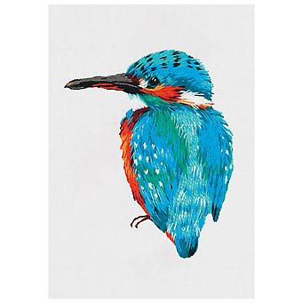Panna Embroider On Clothes Embroidery Kit - Kingfisher