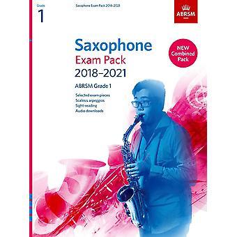 Pacote de Exame saxofone 2018-2021, Abrsm Grade 1 Paperback