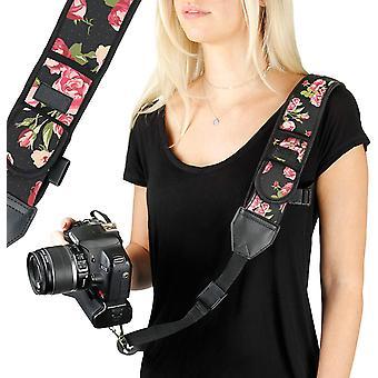 USA Gear DSLR Camera Strap with Adjustable Shoulder Sling in Neoprene