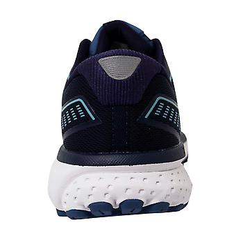 Brooks Ghost 12 Lace Up Navy Blue Womens Running Shoes Trainers 1203051B436