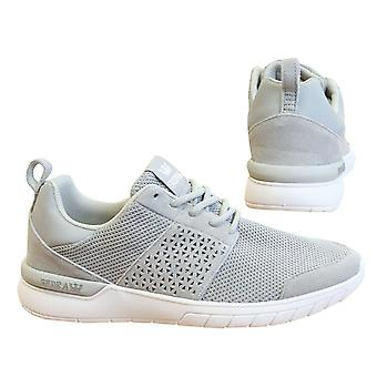 Supra Scissor Light Grey White Lace Up Mens Running Trainers 08027 054 B9C