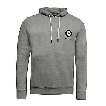 Ben Sherman Mens Target Hoodie Jumper Sweatshirt Light Grey 0058684LG-GRY A110B