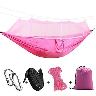 Outdoor Mosquito Net Parachute Hammock Camping Hanging Sleeping Bed Swing