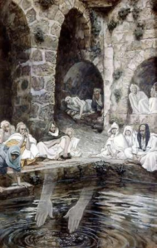 Pool of bethesda poster print by james jacques tissot fruugo for Piscine tissot