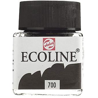 Talens ecoline liquid watercolour black - 30ml jar