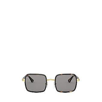 Persol PO2475S gold & striped browne & smoke unisex sunglasses