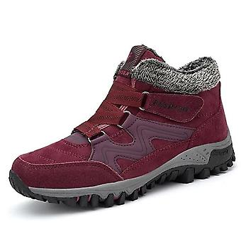 Winter Fur Warm, Ankle Snow Boots, Rubber Sneakers