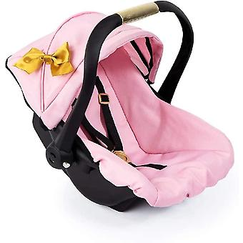 Bayer Design 67990AA Toy, Car Seat Easy Go, Pink, Gold with Bow tie