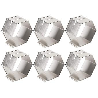 Dii Antique Silver Place Holder Napkin Ring (Set Of 6)