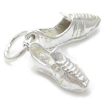 Voetbalschoenen Sterling Silver Charm .925 Foot Ball Soccer Charms - 4661