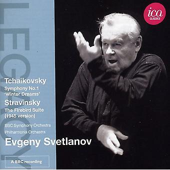 Tchaikovsky/Stravinsky - Tchaikovsky: Symphony No. 1 'Winter Dreams'; Stravinsky: The Firebird Suite (1945 Version) [CD] USA import
