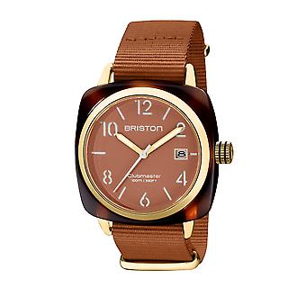 Briston 20240.PYA.T.38.NTC Clubmaster Classic Acetate Wristwatch Brown