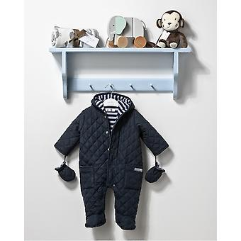 The Essential One Unisex Baby Quilted Navy Pramsuit