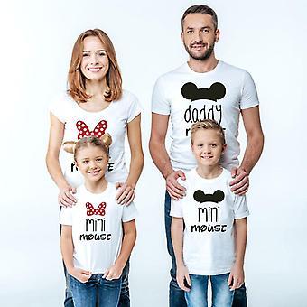 pappa mamma og meg familie t-skjorte mini mus tegneserie matchende antrekk utseende