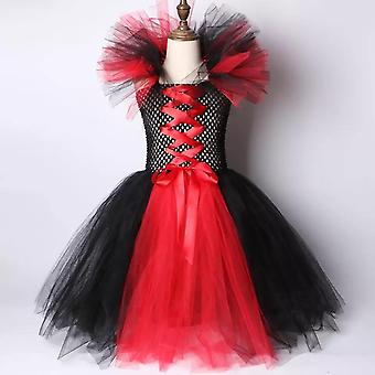 Maleficent Girls Tutu Halloween Cosplay Dress