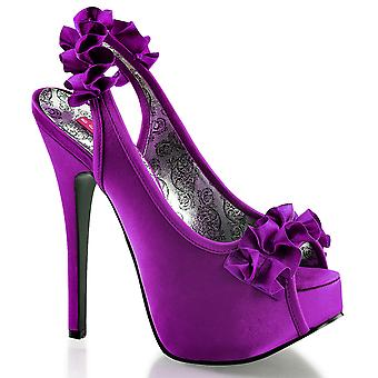 Bordello Women's Shoes TEEZE-56 Purple Satin