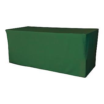 """Mantel ajustado de poliéster de lino 96""""L X 30""""W X 30""""H, verde esmeralda"""