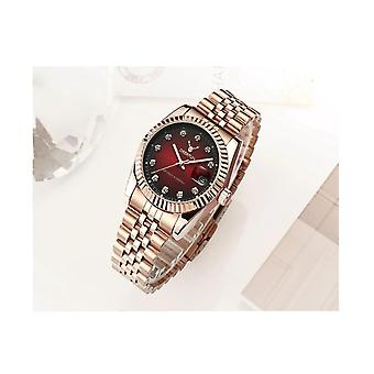 Ladies Watch Rose Gold Red Women Woman Smart Watches Two Tone Present UK Stock