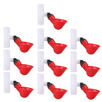 10 Pièces 1.9cm ID Automatique Poultry Drinking Cups Poultry Supplies