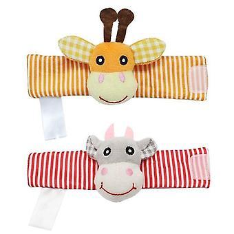 Cartoon Animal Socks Infant Rattle
