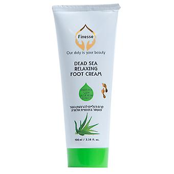 Dead Sea Relaxing Foot Cream - Enriched With Aloe Vera Extract