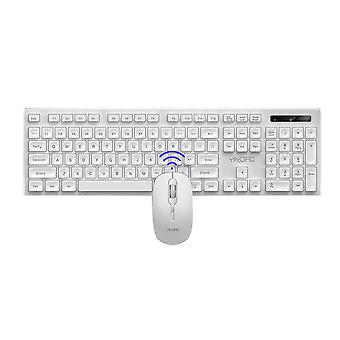 Ordinateur de bureau, ordinateur portable, ultra Slim Cordless Keyboard Mouse Combo Set