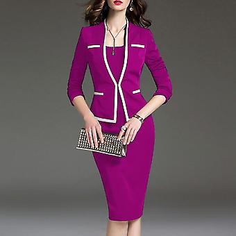 Spring Autumn Female Dresses Suits Plus Size 6xl Women's Suit Bodycon Dress
