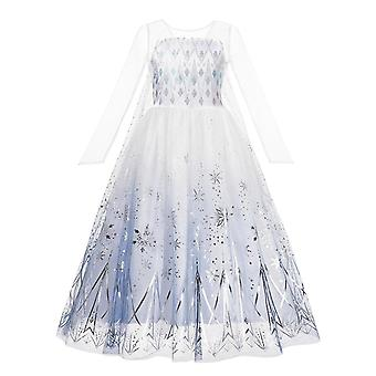 Vestido de Princesa, Elsa Anna Fantasias Festa Vestes de Bebê Roupas de Bebê
