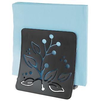 mDesign Decorative Metal Paper Napkin Holder for Kitchen Countertops