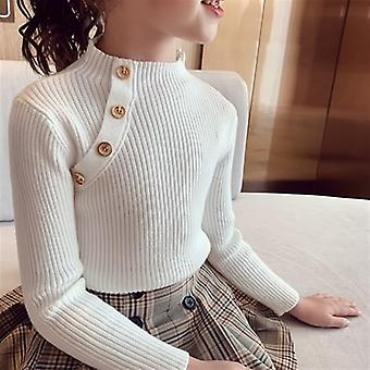 Girl's Bottoming Sweaters, O-neck Long Sleeve Kids Clothes