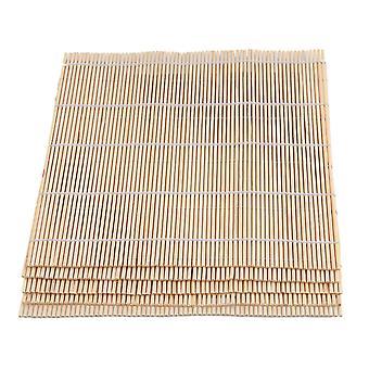 5x DIY Sushi Bamboo Roller Mat for Rolling Nori & Rice Light Yellow 24cm